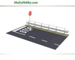 Guarda rail y sección de carretera