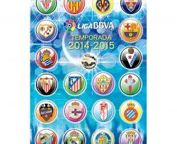 Puzzle Escudos Liga de fútbol profesional 2014-15