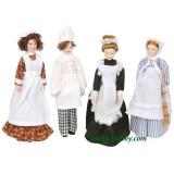 4 Personajes servicio porcelana